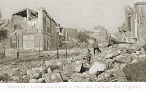 1908 Terremoto de Messina Via Garibaldi